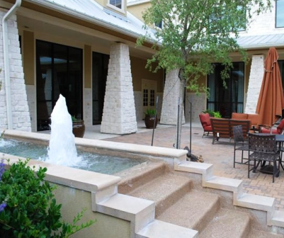 Waterfalls and Patio at Alexan Woods