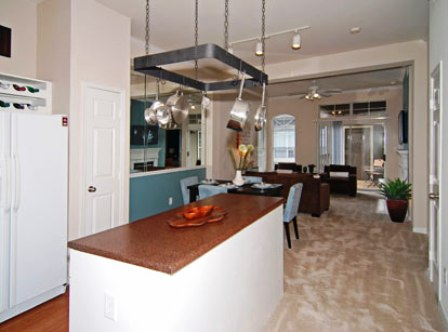 Island Kitchens at Bryan Place Apartments in Dallas