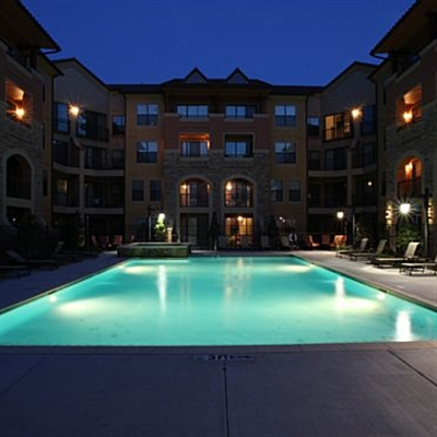 Pool View of Rockwall Commons Apartments