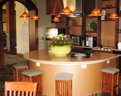 Island Kitchens offered at these Onion Creek apartments in Austin