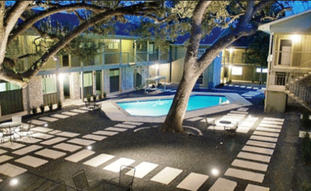 Night Shot of Pool at Terrace Creekside
