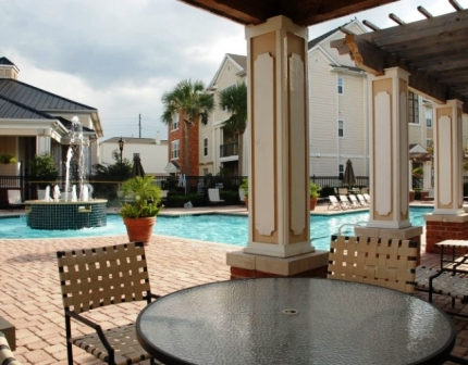 Private Cabanas at these Houston Galleria Apartments for Lease!