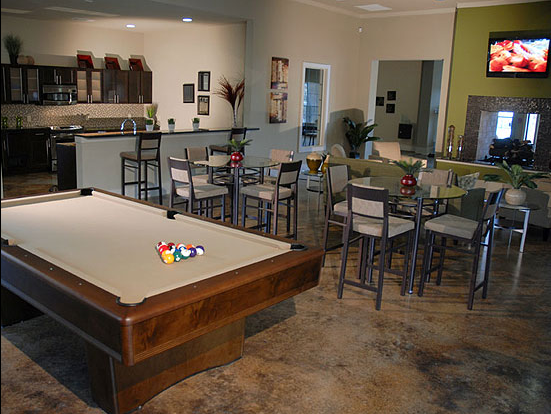 Pool Table at these Round Rock Apartments