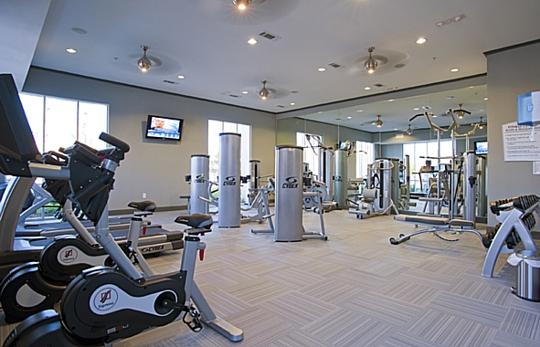 Fitness Center at Camden Travis Street Apartments