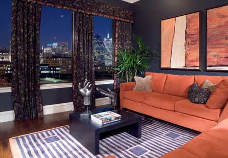 Living Room at Rienzi Turtle Creek Apartments