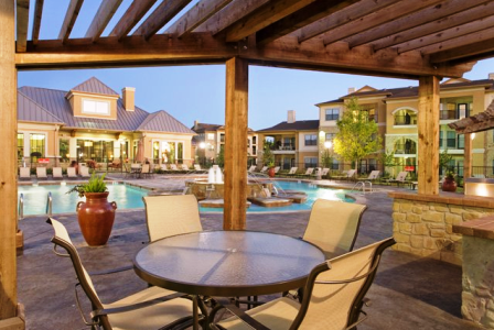Sparkling Pool with Cabanas at Apartments in Round Rock