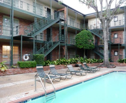 Sparkling Pool at Westcreek River Oaks Apartments