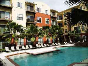 Pool View of Houston Medical Center Apartments Lofts
