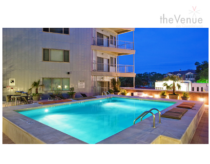 Sparkling Pool at The Venue on Guadalupe Apartments