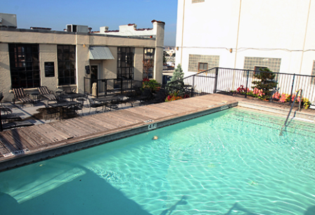 Pool Area at American Beauty Mill Lofts in Dallas, TX
