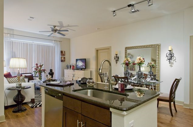Gourmet Island Kitchen at Houston Medical Center Apartments