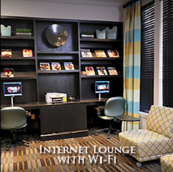 Internet Lounge with Wi-Fi at Houston Galleria Apartments