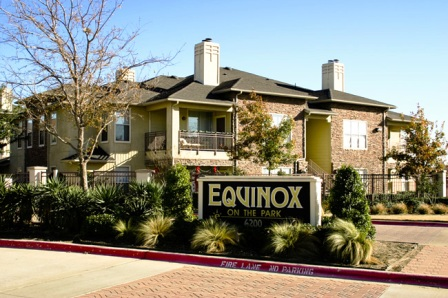 Equinox on the Park in Garland, TX Entrance