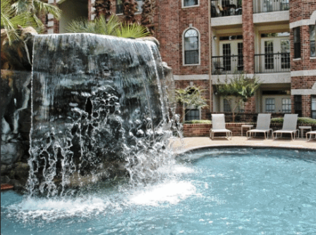 Phoenician Apartments Houston Texas - Waterfall