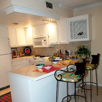Kitchen at Galleria Oaks Apartments