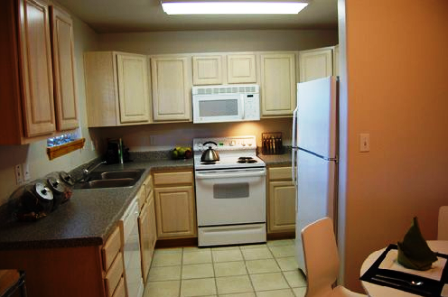 Kitchen at Park Terrace Apartments