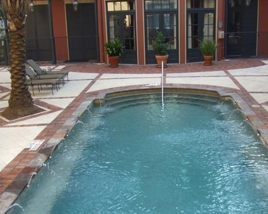 Pool View of Houston Midtown Apartments