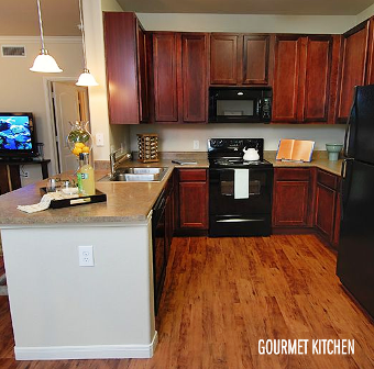 Gourmet Kitchen at Alexan Sommerall