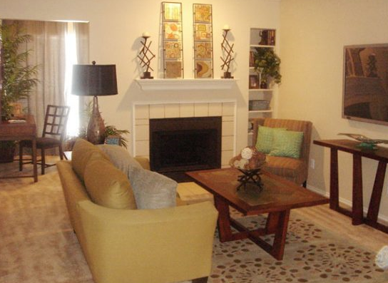 Living Room at Autumn Chase Apartments