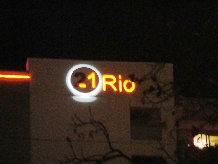 Night View of 21 Rio in Austin, TX