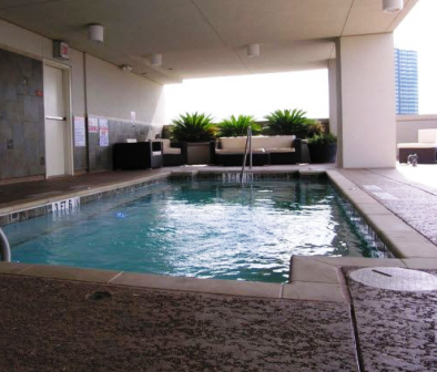 Top Level Pool at 21 Rio Apartments in Austin, TX