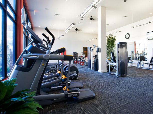 State-of-the-Art Fitness Center at these Austin Domain Apartments