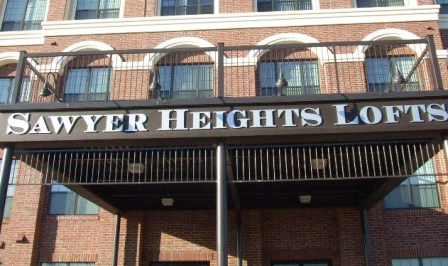 Sawyer Heights Lofts Exterior Sign