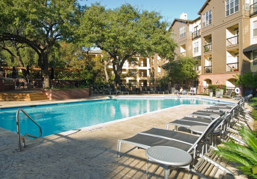 Pool View Photo of SoCo Austin Apartments