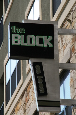 The Block on Leon Sign