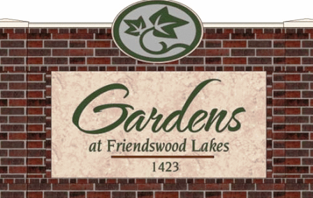 Gardens at Friendswood Lakes Apartments Sign