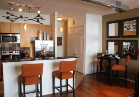 Lofts at Briar Forest Hardwood Floors in Kitchen