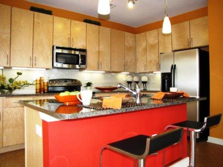 Kitchen at Cole Apartments in Austin, TX