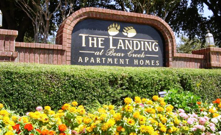 The Landing at Bear Creek Euless Apartments Entrance