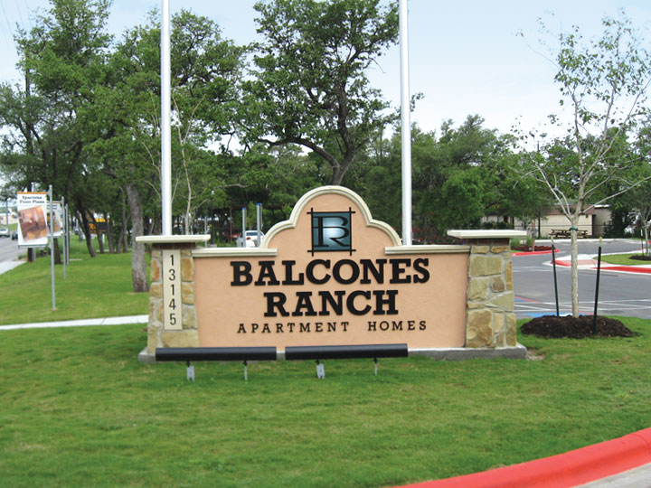 Entrance Sign at Balcones Ranch Apartments