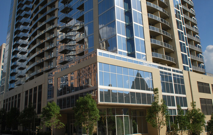 Exterior View of Glass House Dallas