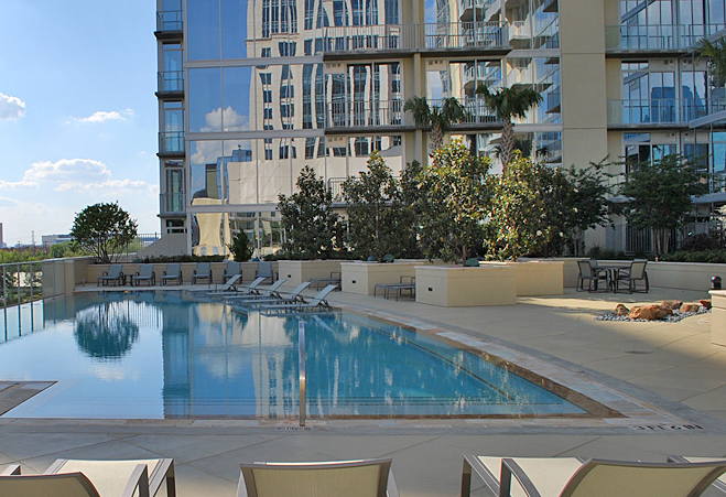 Sparkling Pool at Dallas High Rises