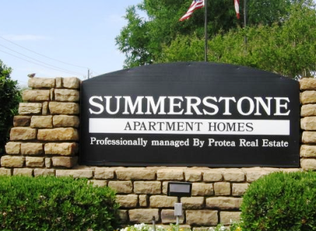 Entrance Sign for Summerstone Apartments