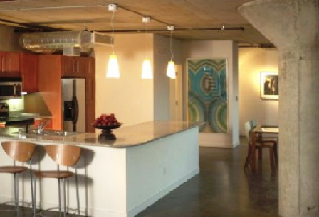 Kitchen at Lofts at Mockingbird Station