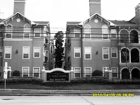 Exterior View of The Carlton Apartments in Houston TX
