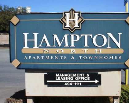 Hampton North Apartments Entrance