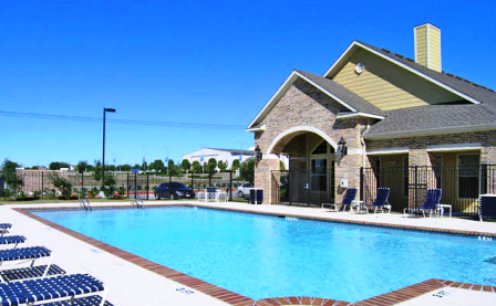 Sparkling Pool at Brookside Apartments in Killeen, TX
