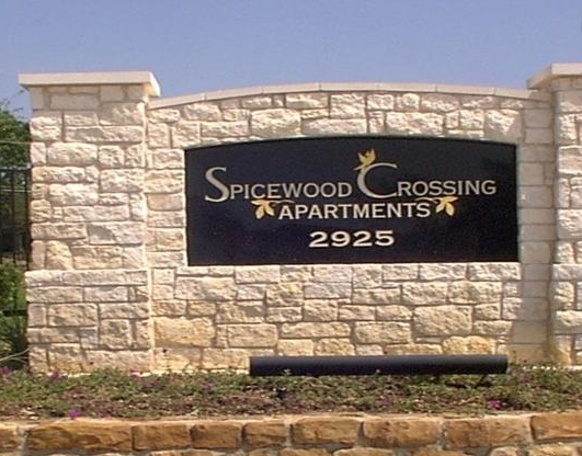 Spicewood Crossing Apartments Entrance Sign