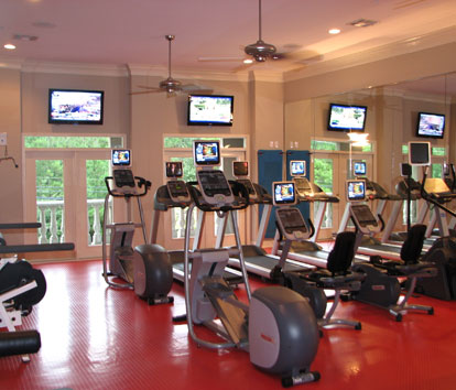 Fitness Center at Post Oak at Woodway Apartments