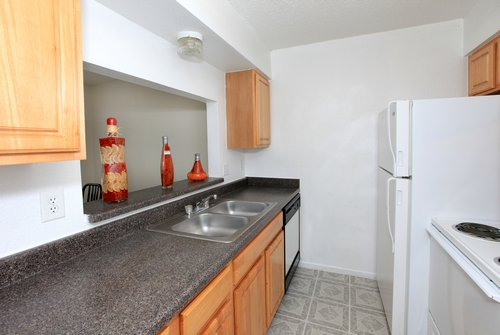All Electric Kitchen at these Apartments in East Austin