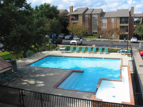 Sparkling Pool at these Austin South Congress Apartments