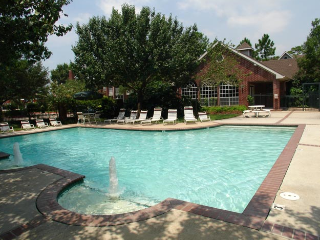 Sparkling Pool at these Friendswood Apartments