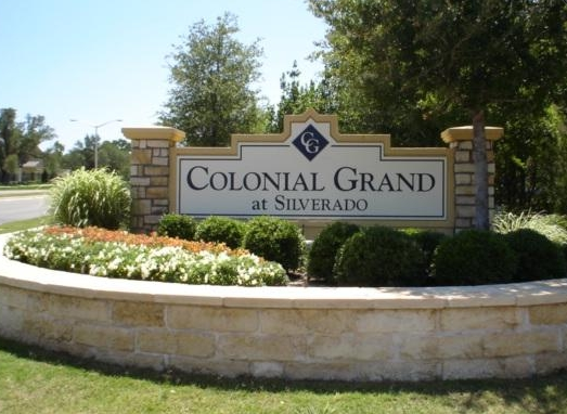 Entrance to Colonial Grand at Silverado Apartments Cedar Park, TX