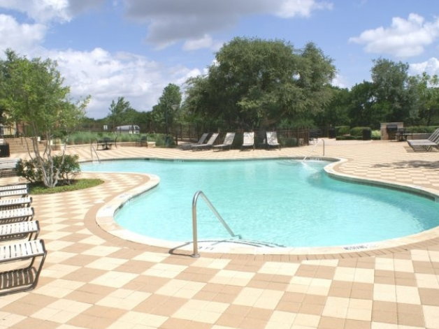 Pool Area at Cedar Park Apartments for Rent