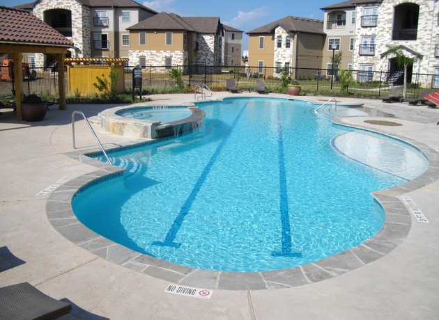 Resort Pool at these Apartments in Universal City TX