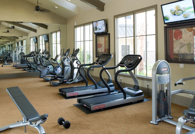 Fitness Center at Verde Woodson Park Apartments